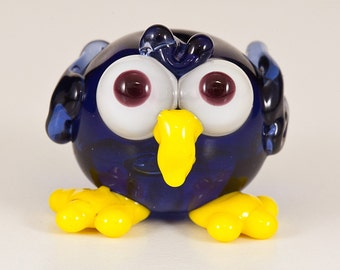 Bluebird Lampwork Bead