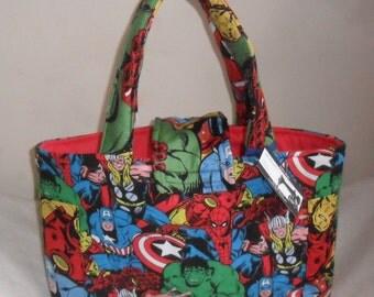 Large Marvel Retro Collage Burst Comic Diaper Bag Tote INTERIOR CHOICE