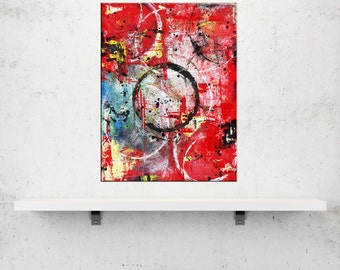 Trapped in Time, Original Acrylic Artwork, Mixed Media Abstract Paintings, Unique Wall Art, Home Decor, Abstract Art for Home, Modern Art