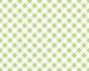 SALE!!  Sew Cherry 2 By Lori Holt Gingham Green (C5808-Green)