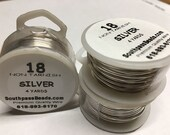 18 gauge Non Tarnish Silver Plated Copper Craft Wire 4 yards Made in USA