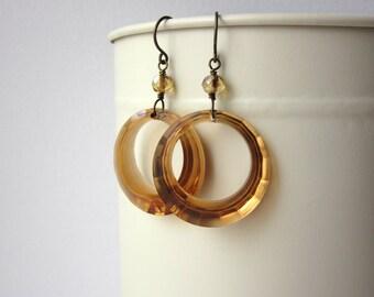 Toffee Hoops Earrings