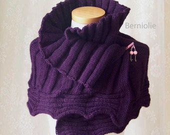 AMETHYST, Knitting capelet pattern, PDF