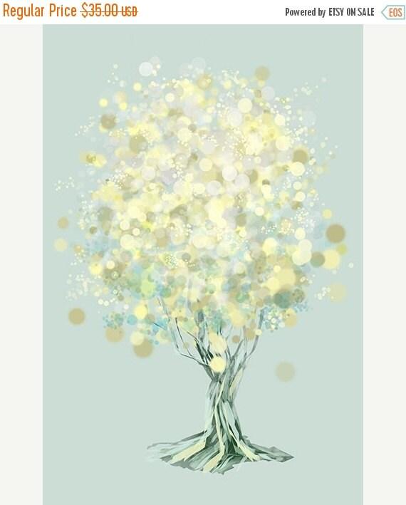 50% Off - Black Friday Lemon Bubble Tree - 12x18 Print
