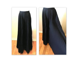Vintage late 60s Black Palazzo Pants S Gigantic Sweep