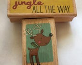 2 rubber stamps - Christmas - Jingle all the Way
