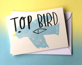TOP BIRD card cc227
