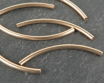 Gold Filled Curved Tube 35mm x 2mm (CG9105)