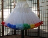 Petticoat White with Choice of Multiple Colors Fluff -- RESERVED for April