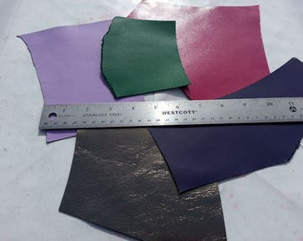 Kangaroo Leather Remnants, Non Metallic (Package of 11 pieces)