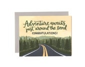 Adventure Waits Just Around the Bend Illustrated Card//1canoe2