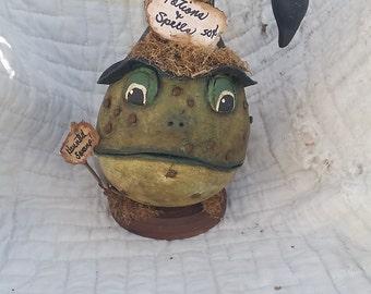 Haunted Swamp Frog Gourd