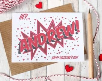 Valentine Card. Valentines Day Card. Valentine Cards. Valentine. Cute Valentine. Comic Book Style. Fun Valentine. Pop Art Valentine.