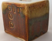 Ceramic Prayer Box, GIT (Give It To) God, Choose Color, Prayer, Faith, Believe, Trust in God, Original, Ceramic Cube, Glazed Box,