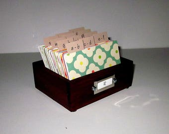 Address Card File...Petite...Rolodex...Wedding Guest Book Alternative....Organizer...Business Card