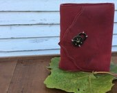 gorgeous red leather journal by Binding Bee
