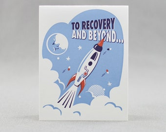 Letterpress Sympathy Card, Space Recovery