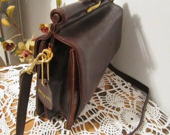 Leather Purse, Bellerose Purse, Structured Purse, Leather Bag, Vintage Leather Bag