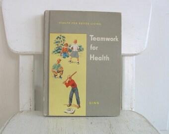 Vintage Child Health Book, School Health Book, School Reader, Teamwork for Health, Child School Book, Child Reader, Vintage Book