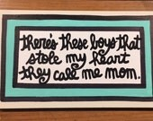Hand-Painted Sign- mom sign mother's day gift office gift Free Shipping