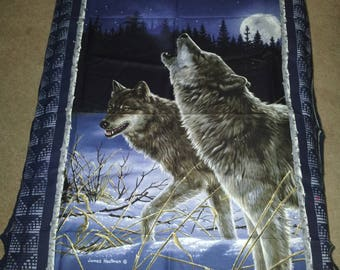 Wolf Panel with matching fabric