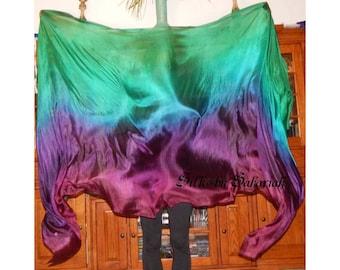 "Sahariah's Silk Belly Dance Veil Rectangle original ""Killer Silk"" 3 Yard Rectangle Veil Tribal Silks by Sahariah"
