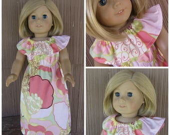Made for the American Girl of Today Doll the Blakely Dress in Pink Floral handmade doll clothes