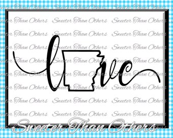 Arkansas Svg Arkansas outline Love SVG Arkansas DXF pattern, Arkansas cut, T shirt Design Vinyl  Silhouette, Cameo, Cricut, Instant Download