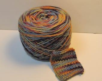"""Hand-dyed Wool Yarn (Singles) in """"Vineyard"""" colorway"""