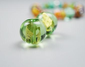 Long Contemporary Necklace // Simple Necklace // Contemporary Necklace // Lampwork Bead by Melanie Moertel