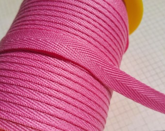 "Medium Pink Twill Tape Trim - POLYESTER Sewing Bunting Shipping Packaging - 3/8"" Wide - 10 Yards"