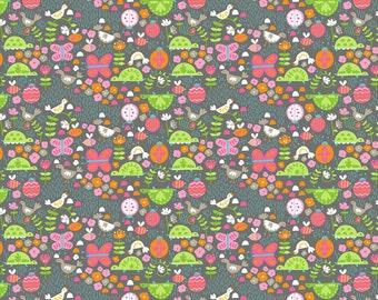 Flutter & Float - Flitt Grey Flitt Gray - Ana Davis - Blend Fabric 100% Quilters Cotton