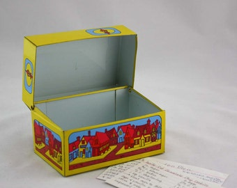 Retro Town Metal Recipe Card Box by Syndicate Manufacturing Co.