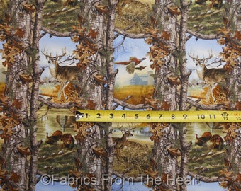 Realtree Deer Bucks Turkey Woods Farm Camo Nature BY YARDS 100% Cotton fabric