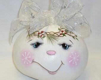 Snowman Gourd - Hand Painted Gourd