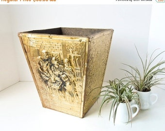 Sale Brass Wastebasket Planter Firewood Box