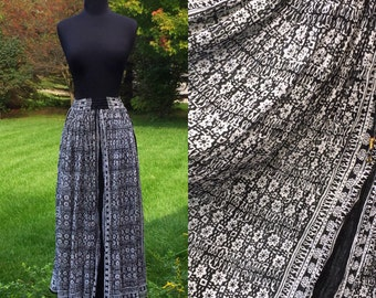 Misty Bohemian Raven 70s Skirt Draw String Waist One Size Fit All