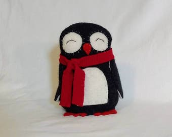 Penguin in a Red Scarf