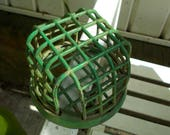 Green Metal Cage Dazey No 3 Flower Frog / Vintage Garden Flower Holder / Flower Frog Garden Decor Vintage Dazey Metal Flower Frog
