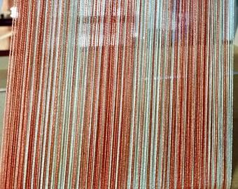 Weaving kit for Striped Peaches Shawl-weaving-kit-loom-handwoven- peach stripes
