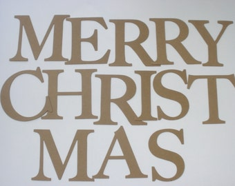 4 elegant font merry christmas letters alterable chipboard bare die cuts
