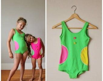 25% OFF SALE NOS, 1960s Confetti Dot Swimsuit >>> Girls Size 8/10