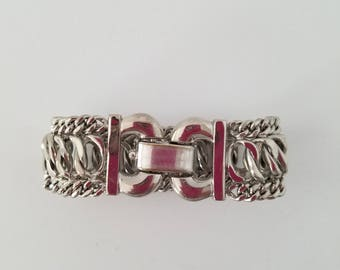 Vintage Bergere Silver Tone Bracelet