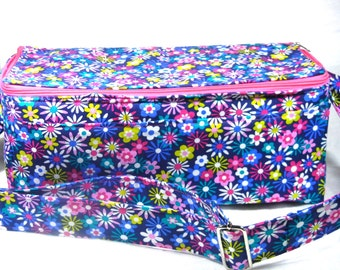 "Coupon Pocketbook Mega Deluxe 6"" Double Wide Happy Florals Fabric"