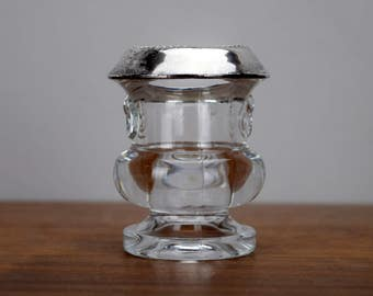 Laben Sterling Silver and Glass Toothpick or Matches Holder