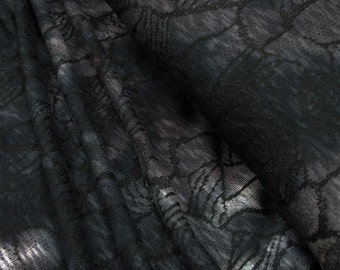 Knitwear petrol gray heather 0.54yd (0,5m) 003011