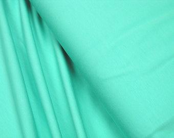 Cotton Jersey uni dark mint 0.54yd (0,5m) 003288