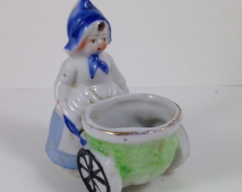 Vintage Dutch Girl Toothpick Holder
