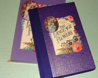The Language of Flowers Book by Sheila Pickles Circa 1989 1990 Boxed Penhaligon's Scented Treasury of Verse and Prose - Beautiful Pictures