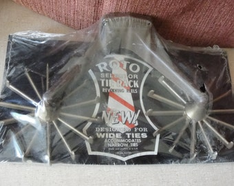 Vintage rotating tie rack Plastic Made in USA